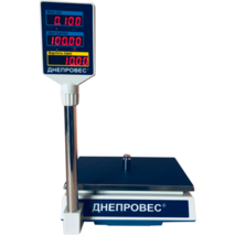 Весы торговые со стойкой Днепровес ВТД РС