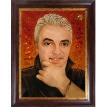 Портрет батька із бурштину