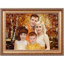 Портрети сім'ї (4 особи) з буршитну