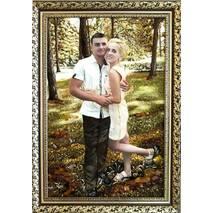 Красивий портрет із бурштину по фото