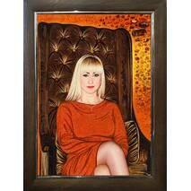 Бурштиновий портрет дівчини
