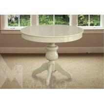 Овальный стол Лео со стульями Марек 4(слоновая кость)