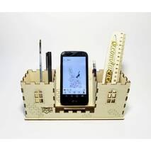 Настольный органайзер (карандашница) для канцелярии Замок