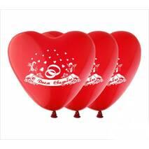 """Повітряні кульки серця """" З Днем весілля """"  шовкографія  12"""" (30 см)   ТМ Show"""