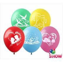 """Повітряні кульки Любов і весілля мікс 12"""" (30 см)   ТМ Show"""
