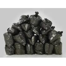Мішки поліетиленові для сміття чорні суперщільні 100 мкм (50 шт/уп)