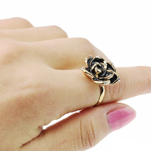 Кольцо Jewel Town черное K447, Uni