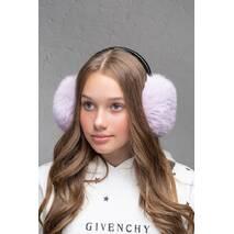 Меховые наушники  Уши светло-сиреневый  (FL1351)