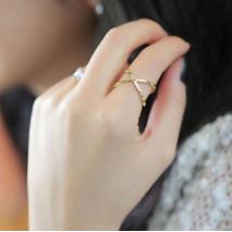 Кольцо Jewel Town золотистое K074A, 18 размер