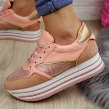 Женские пудровые кроссовки Alice 1077