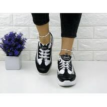 Женские стильные кроссовки Kelly черные 1093