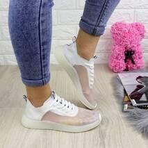 Женские прозрачные кроссовки белые Ibiza 1201