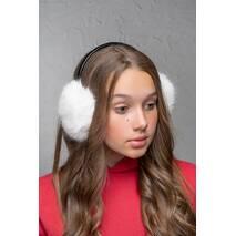 Хутряні навушники Flirt Уші білий   (FL1347)