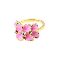 Кольцо Abbelin розовое K263A, 18 размер