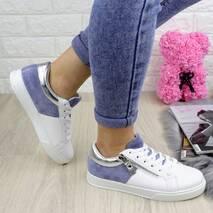 Женские белые кроссовки Lagger 1202