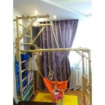 Спортивный уголок трансформер Лиана цвет с сеткой и турником