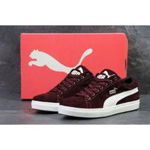 Кроссовки мужские бордовые Puma Suede 5287
