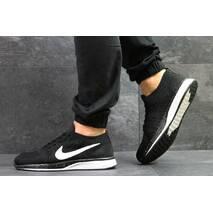 Кроссовки мужские черно-белые Nike Flyknit Racer 5347