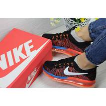 Кроссовки женские черные с помаранчевым Nike Air Max 2017 4329