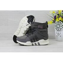 Зимние женские дутики Adidas Equipment серые 3796