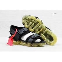 Босоножки мужские серые с черным Nike Sandals Off white x Nike Air VaporMax 5539