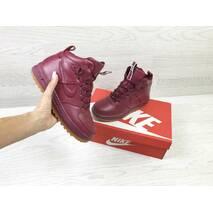 Женские зимние кроссовки бордовые Nike Air Force LF-1 6656