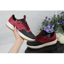 Кроссовки женские черно- красные Nike Lunar Force LF - 1 4523