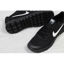 Кроссовки женские черные Nike Free Run 3.0 5307
