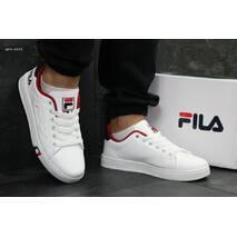 Кроссовки подростковые белые с синим и красным Fila 6251
