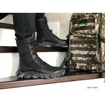 Берцы мужские зимние черные 8600