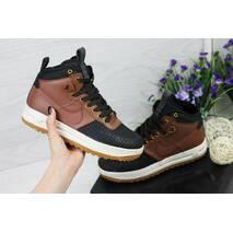 Кроссовки женские черные с коричневым Nike Lunar Force LF - 1 4524