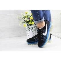 Кроссовки женские черные с синим Nike Air Max 2017 4327
