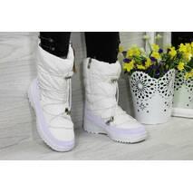 Зимние женские дутики Timberland белые РП-3724