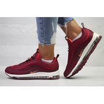 Кроссовки женские бордовые Nike 97 6038