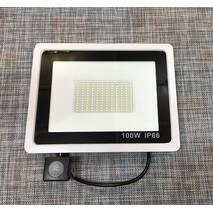 Прожектор LED з датчиком руху 100W IP66 / 536