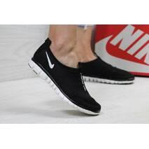 Кроссовки женские черно- белые Nike Free ran 3.0 5395