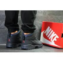 Мужские ботинки темно синие на зиму Lunarridge Nike 6527