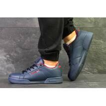 Кроссовки мужские темно синие с красным Reebok 6353