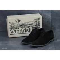 Мужские туфли черные Vankristi 7451