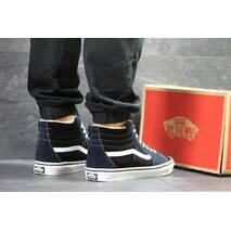 Мужские зимние кеды темно синие с черным Vans 6494