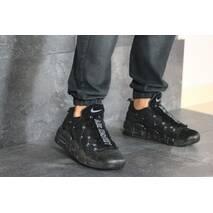 Мужские кроссовки черные Nike Air More Money 8225