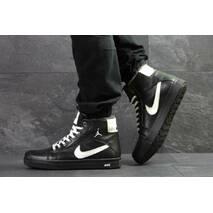 Мужские кроссовки черные Зима Nike Jordan 6809