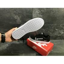 Мужские кроссовки черные с белым Nike Supreme 7017