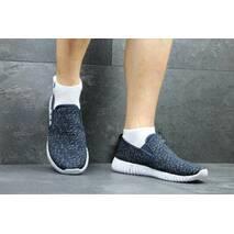 Мужские мокасины Adidas темно синие 2253
