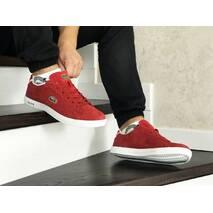 Мужские кроссовки красные Lacoste 8521