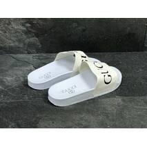Шлепки мужские белые Gucci 5443