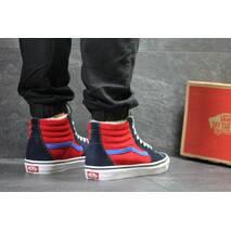 Мужские зимние кеды синие с красным Vans 6498