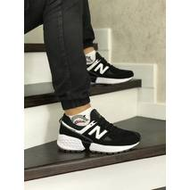 Мужские кроссовки черные с белым New Balance 574 8408