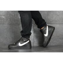 Мужские кроссовки черные с белым Nike Air Force 8439