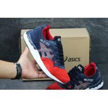 Мужские кроссовки Asics Gel-Lyte 5 темно синие с красным 2977